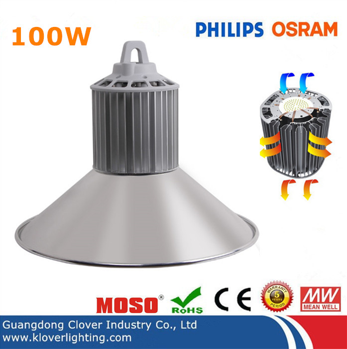 Phlips SMD3030 100W LED high bay light meanwell driver