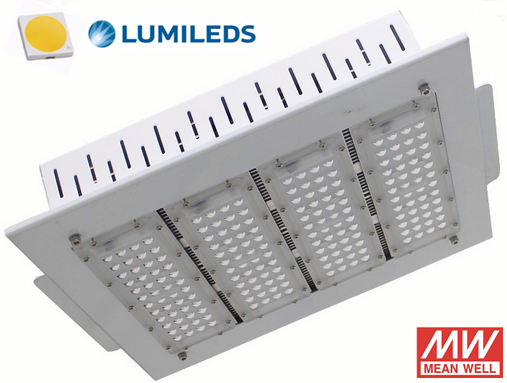 Recessed 150W LED canopy light for gas station