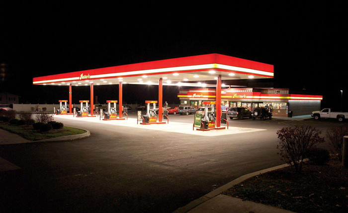 recessed 150W LED canopy lights for gas station