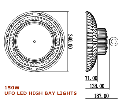 IP65 150W UFO LED high bay lights