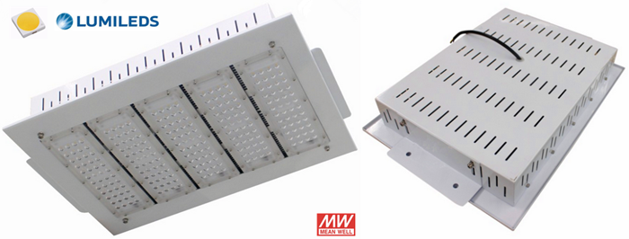 Philips SMD3030 200W LED canopy lights with Meanwell driver