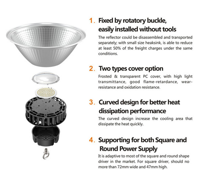 200W LED high bay lights Philips SMD3030 chips