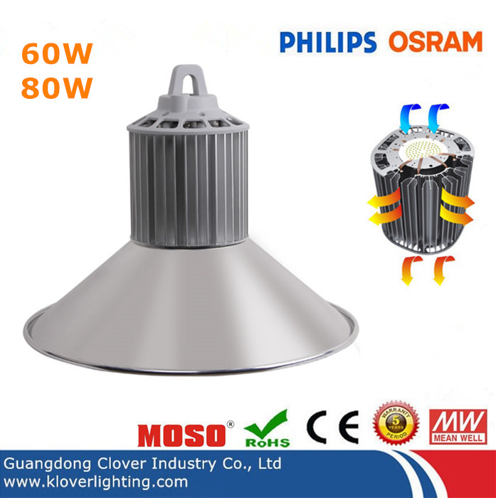Philips SMD3030 80W LED high bay lights Meanwell driver