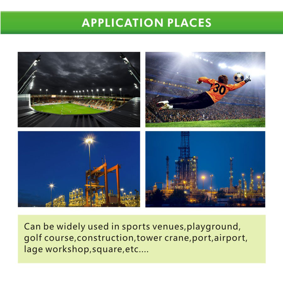 Application for 400W LED stadium floodlights with Meanwell driver