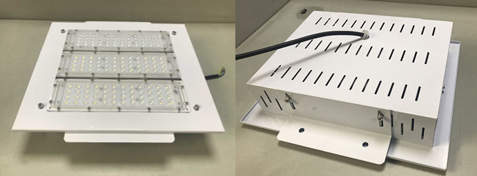 Explosion proof 120W LED canopy light