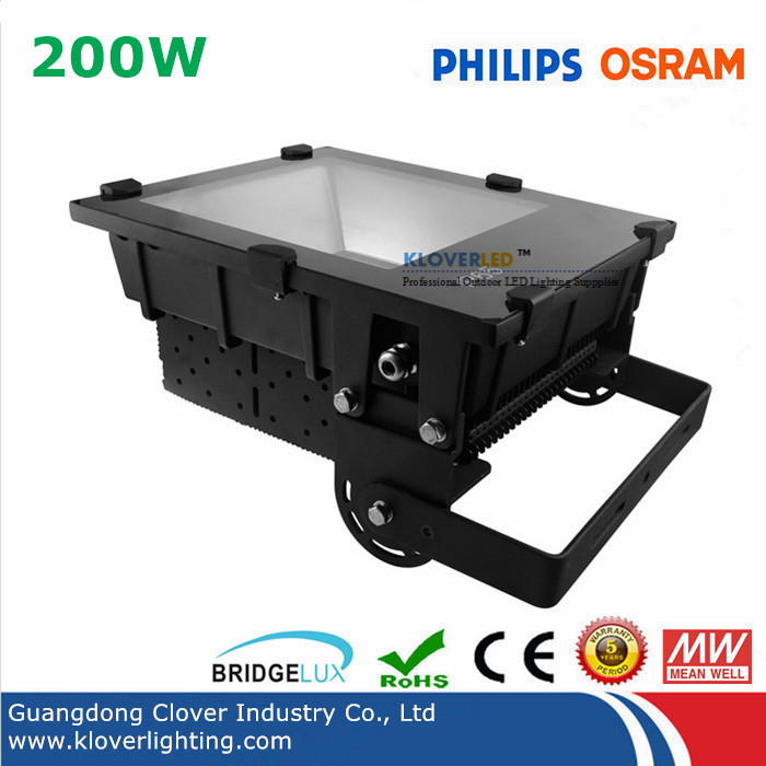 High lumen Bridgelux 45mil COB 200W LED flood light