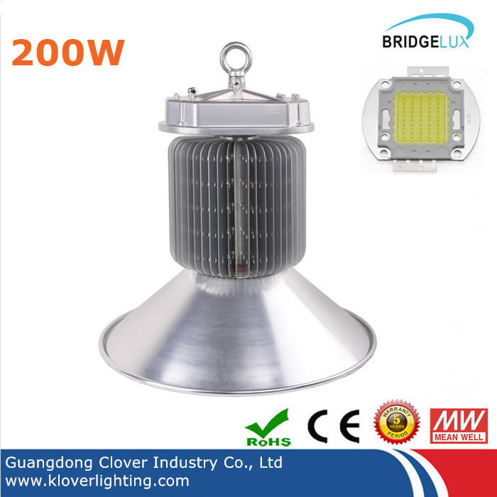 High lumen Bridgelux COB 200w LED high bay lights