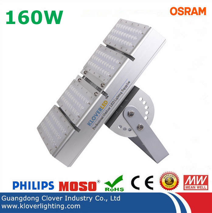 IP65 Osram SMD3030 160W LED Tunnel Lights Meanwell Driver
