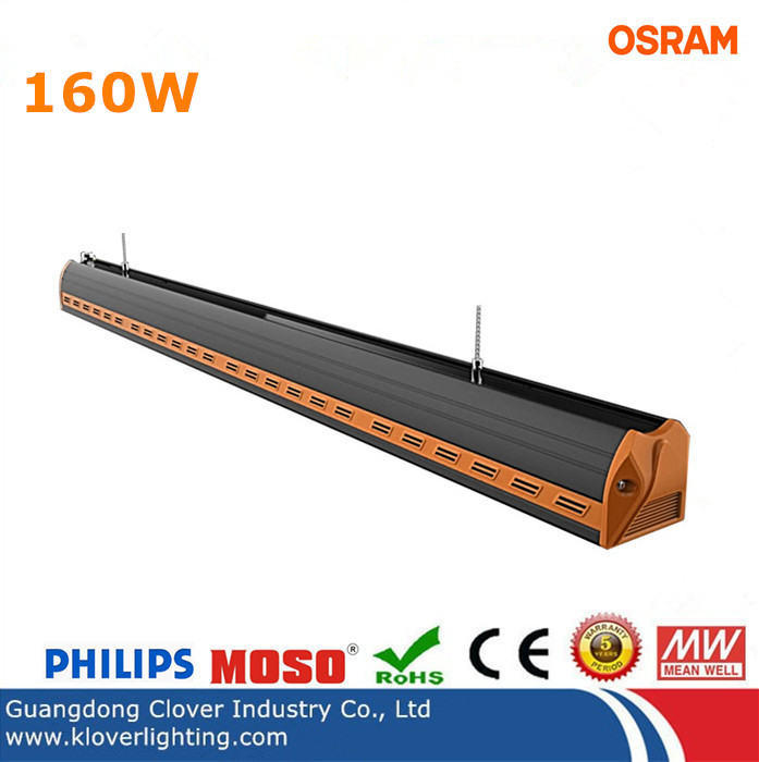 high lumen Bridgelux 160W linear LED high bay lights