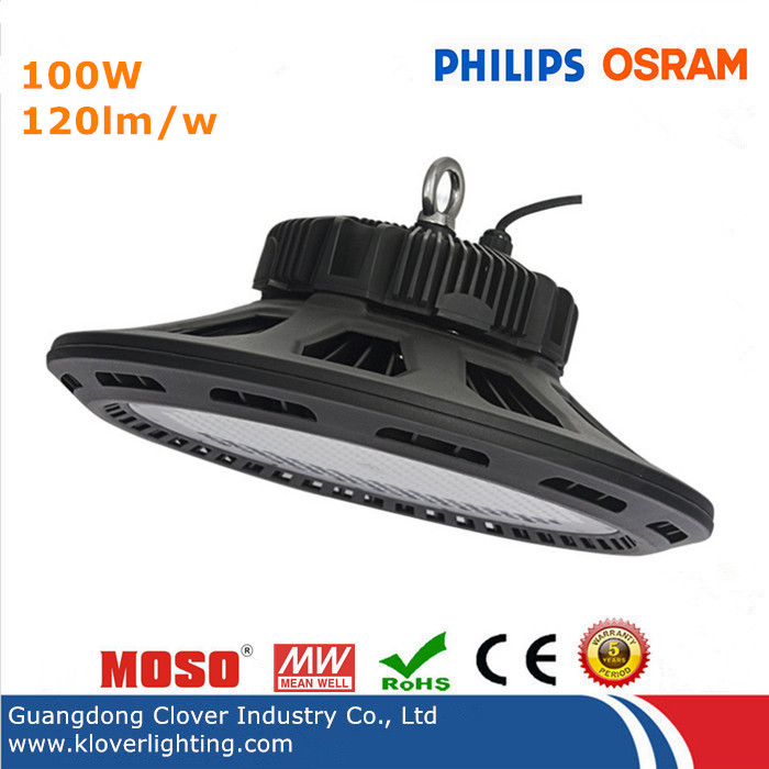 Philips SMD3030 Meanwell driver 100W UFO LED high bay light