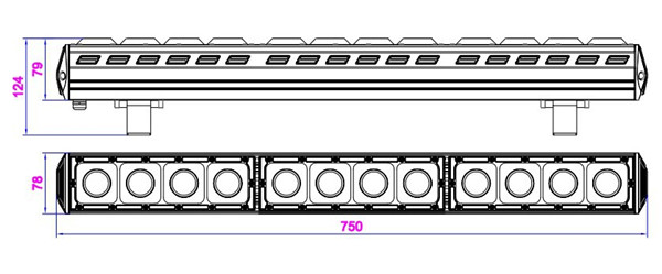 size for 120W linear LED high bay lights