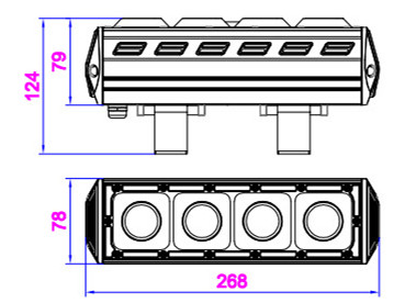 size for 40W linear LED high bay lights