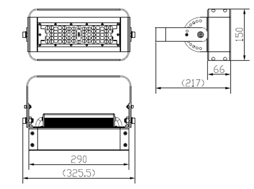 size for 50W LED tunnel lights